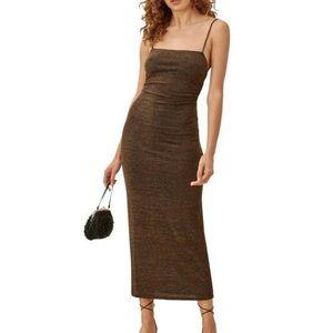 Reformation Breslin Glitter Dress B139